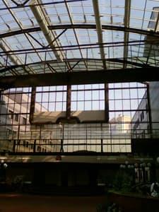 Результат после мытья стеклянной крыши